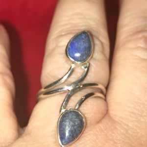 Jewelry - Two Stone Lapis and Sterling Silver Ring